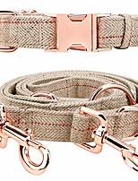 cheap -medium-large big-female heavy-duty dog-collar leash-set - rose gold 6 foot exceptionally elegant design and adjustable in 3 different lengths for medium to large dogs (beige, l)