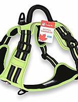 cheap -, dog harness no pull, walking pet harness with 2 metal rings and handle reflective breathable oxford soft vest easy control front clip harness for small medium large dogs