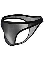 cheap -Men's 1 Piece Basic G-string Underwear - Normal Low Waist White Black Blue S M L