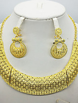 cheap -Women's Clear Synthetic Diamond Bridal Jewelry Sets Simple Basic Elegant Earrings Jewelry Light Yellow / Dark Yellow / Yellow For Wedding Engagement 1 set