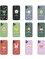 cheap -Case For iPhone 6 6s 7 8 6plus 6splus 7plus 8plus X XR XS XSMax SE(2020) iPhone 11 11Pro 11ProMax iPhone 12 Shockproof Ultra-thin Pattern Back Cover Word Phrase Animal Silicone