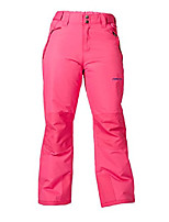 cheap -kids snow pants with reinforced knees and seat, fuchsia, 2t