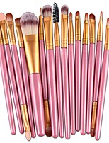 cheap -15pcs makeup brush set,lavany make up brushes set foundation powder eyeshadow eyeliner cosmetics tools for women girls
