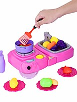 cheap -2-in-1 children's kitchen (with lights and music) children's pretend toys, pretend play cooking rice