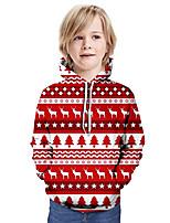 cheap -Kids Boys' Basic Christmas Long Sleeve Hoodie & Sweatshirt Red