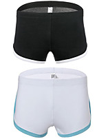 cheap -Men's 2 Piece Basic Boxers Underwear - Normal Low Waist Multi color M L XL