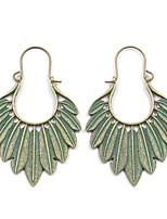 cheap -Women's Drop Earrings Earrings Hanging Earrings Leaf Trendy Fashion Earrings Jewelry Gold / Green For Birthday Gift Date Street Beach