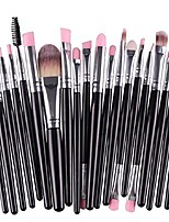 cheap -20pcs/set makeup brush set tools make-up toiletry kit wool make up brush set (black)