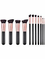 cheap -cosmetics makeup brushes set 14 pcs,premium synthetic foundation brush blending face powder blush concealers eye shadows make up brushes kit (14x, black)