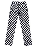 cheap -Women's Basic Daily Chinos Pants Plaid Checkered Breathable Black S M L