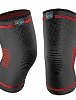 cheap -upgraded knee brace 2 pack compression sleeves support for women & men, wraps pads for running, pain relief, injury recovery, basketball and more sports