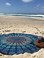 cheap -indian mandala round roundie beach throw tapestry hippy boho gypsy cotton tablecloth beach towel, round yoga mat