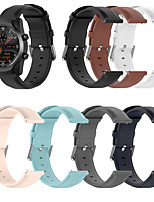 cheap -Soft Leather Watch Band for Polar Vantage M / Grit X / Ignite / Ticwatch Pro / Ticwatch E2 / Ticwatch S2 / Ticwatch E / Ticwatch 2 Replaceable Bracelet Wrist Strap Wristband