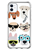 cheap -Case For Apple iPhone 12 / iPhone 12 Mini / iPhone 12 Pro Max Shockproof / Pattern Back Cover Dog TPU