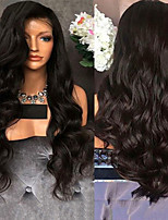 cheap -Synthetic Wig Body Wave Middle Part Wig Very Long Black Synthetic Hair 28 inch Women's Classic Middle Part Exquisite Black