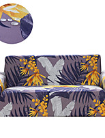 cheap -Stretch Slipcover Sofa Cover Couch Cover Purple Floral and Leaves Print Dustproof All-powerful Slipcovers Stretch Waterproof Sofa Cover Super Soft Fabric Couch Cover