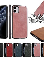 cheap -Case For Apple iPhone 12 / iPhone 11 / iPhone 12 Pro Max Ultra-thin Back Cover Solid Colored PU Leather