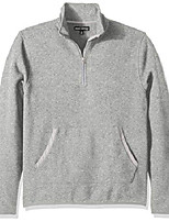 cheap -men's fleece half-zip pullover, marled grey, xl