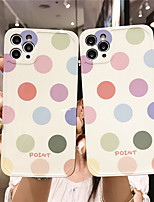 cheap -Case For Apple scene map iPhone 11 11 Pro 11 Pro Max photo frame private model series Color dots pattern TPU material IMD craft fine matte phone case