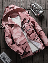 cheap -Women's Hiking Windbreaker Outdoor Solid Color Thermal Warm Waterproof Windproof Breathable Jacket Fishing Climbing Camping / Hiking / Caving White / Black / Red / Camouflage / Pink / Quick Dry