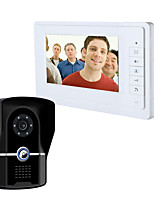cheap -Wired 7 Inch Vidoe Doorbell Intercom System IP55 Grade Rainproof Camera with Infrared Night Vision
