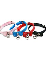 cheap -Dog Cat Collar Cute and Cuddly Solid Colored PU Leather Husky Labrador Alaskan Malamute Golden Retriever Japanese Spitz Beagle Red Blue 1pc