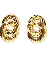 cheap -Women's Stud Earrings Drop Earrings Earrings Twisted Fashion Simple Holiday Punk Cool Hip Hop Earrings Jewelry Gold / Silver For Party Evening Street Gift Vacation Festival 1 Pair / Dangle Earrings