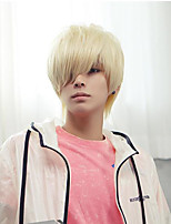 cheap -Synthetic Wig Straight Pixie Cut With Bangs Wig Short White Synthetic Hair 12 inch Men's Fashionable Design Cosplay Fluffy White
