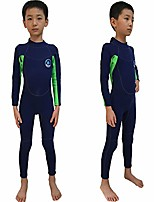 cheap -wetsuit kids shorties 3mm boys surfing suit 2mm children swimwear girls snorkeling diving suits toddler and youth (2mm navy full, xl)