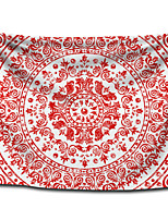 cheap -Wall Tapestry Art Decor Blanket Curtain Picnic Tablecloth Hanging Home Bedroom Living Room Dorm Decoration Polyester Big Red Bohemia Mandala View