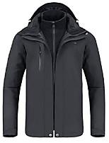 cheap -outdoor jacket men winter ski jacket windbreaker 3 in1 hooded rain coat for traveling climbing hiking 2.0