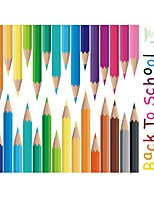 cheap -37*47CM New Colored Pencil Sticker Self Adhesive Wall Stickers Creative Children's Room Wall Decoration