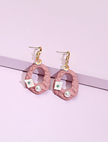 cheap -Women's Drop Earrings Earrings Classic Fashion Classic Holiday Trendy Fashion Cute Imitation Pearl Earrings Jewelry Blushing Pink For Party Evening Vacation Street Beach Festival 1 Pair