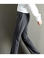 cheap -Women's Basic Daily Wide Leg Pants Solid Colored Sports Black Blue Gray S M L