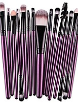 cheap -15pcs cosmetic makeup brushes set powder foundation eyeshadow eyeliner lip brushes for beautiful female & #40;purple black& #41;