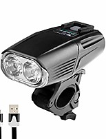 cheap -bicycle light,usb rechargeable xml t6 led bicycle bike light front cycling light head lamp (black)
