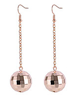 cheap -disco ball earrings for women - 70's halloween earrings women's costume accessories - choice of color (rose gold)