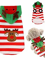 cheap -dog christmas hoodies warm xmas coat with reindeer hat autumn winter clothes pet costume soft jacket (x-small)
