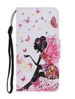 cheap -Case For Samsung Galaxy Note 20 Ultra S20 Plus S10E A11 A21S A31 A41 A51 A71 A01 A10 A20E A30 A40 A50 A70 M31 Wallet Card Holder with Stand Full Body Cases Sexy Lady PU Leather