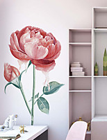 cheap -Floral Wall Stickers Beautiful Flowers Wall Stickers Decorative Wall Stickers PVC Home Decoration Wall Decal Wall Decoration 1pc