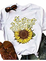 cheap -t shirts for women graphic,sunflower tees women short sleeve round neck summer casual t shirt tops