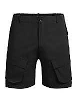 cheap -men's classic fit cargo shorts quick dry stretch work shorts for hiking camping travel black