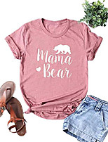 cheap -womens mama bear shirt casual long sleeve and short sleeve mom shirt summer vacation shirts tops graphics tees& #40;m, z-tshirt-pink& #41;