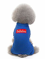 cheap -dog coats for small dogs striped shirt coat pet winter clothes cute soft dog pajamas 4 legs dog suit costume pet jacket pet dog puppy cat winter warm clothes s-2xl (s, blue)