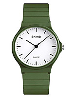 cheap -simple design analog watch with armygreen resin band for men/women student watches
