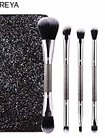 cheap -double-headed makeup brush set with sparkling pailette portable bag 5pcs powder foundation eye shadow eyebrow contour brush & #40;-blingbrush-b& #41;