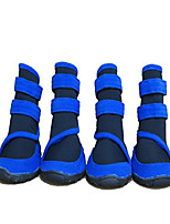 "cheap -waterproof large dog boots pet shoes for large dogs 4 pcs (blue, m (3.3""x2.5""))"