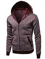 cheap -fine quality plush fleece lined zip up hoodie jacket burgundy size m