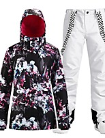 cheap -Women's Ski Jacket with Pants Skiing Snowboarding Winter Sports Waterproof Windproof Warm 100% Polyester Clothing Suit Ski Wear