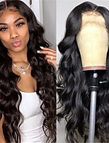 cheap -Synthetic Wig Body Wave Middle Part Wig Long Very Long Black Synthetic Hair 65 inch Women's Fashionable Design Party Middle Part Black